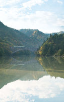 Fukushima First Bridge Tadami River Japan