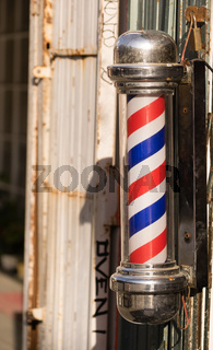 Barber Pole Business Advertisement Downtown