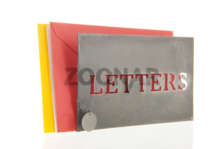 Letters in a stand