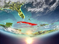 Cuba with sun