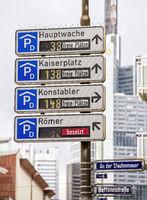 Parkleitsystem in Frankfurt
