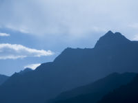 Blaue Berge in Südtirol horizontal