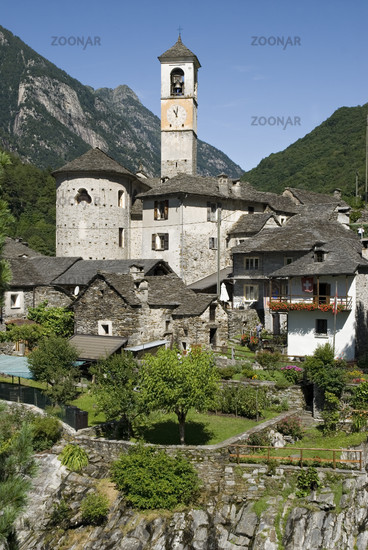 Pfarrkirche Madonna degli Angeli, Lavertezzo in Tessin, Schweiz