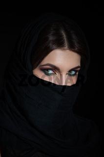 Woman in niqab