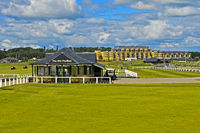 Der Old Pavilion am Alten Golfplatz, Golfanlage St Andrews Links, Schottland, Grossbritannien