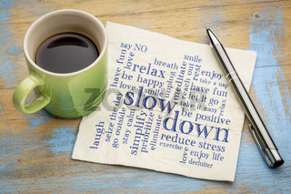 reducing stress tips word cloud