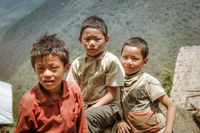 Three friends in Nepal
