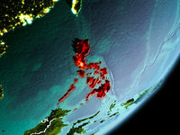 Orbit view of Philippines