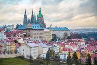 Prague panorama with Prague Castle