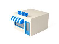 3d isometric style shop illustration