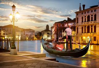 Gondola on Grand Canal