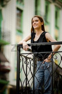 Smiling beautiful young woman.