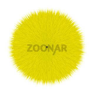 Yellow Fluffy Vector Hair Ball