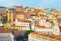 Lisbon Old Town architecture, Portugal