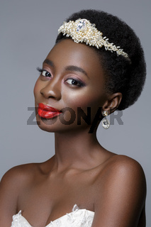 Beautiful black skin bride