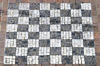 Schachbrettmuster gepflastert