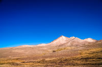 Dry and desolate landscape in bolivian Altiplano