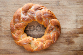 pastry in the shape of a braid