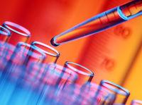 experiment in einem chemischen Labor