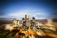 Frankfurt Skyline mit Zoom Effekt