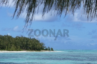 Mauritius Meerblick mit Strand