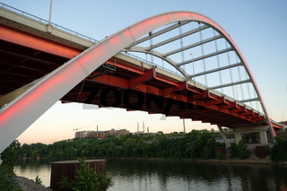 Korean Veterans Blvd Bridge Cumberland River Nashville Tennessee