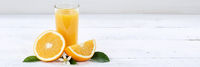 Orangensaft Orangen Saft Orange Textfreiraum Copyspace Banner Fruchtsaft Frucht Früchte