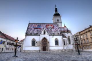 Church of St. Mark in St. Mark's square, Zagreb, Croatia