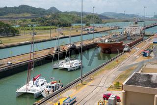The Panama Canal, Miraflores Locks, Panama City