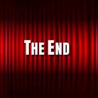 Red Stage Curtain And The End Text