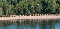 Colorful beach huts near Helsinki, Finland