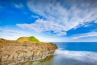 Coastal view. Timelapse