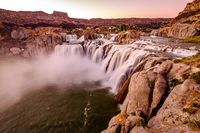 Shoshone Falls at sunset in Twin Falls, Idaho
