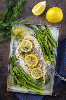Coalfish Filet with Green Asparagus