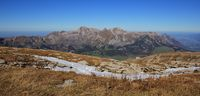 Autumn scene on the Chaeserrugg, mountain in the Toggenburg valley, Switzerland.