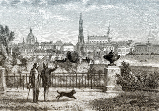 Historical cityscape of Dresden