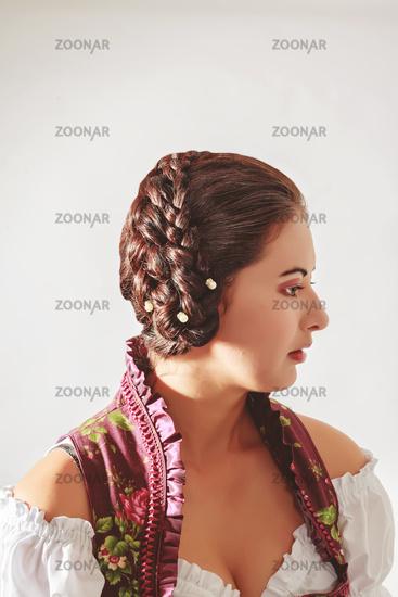 Foto Traditionelle Bayrische Frisur Zur Tracht Bild 10275103