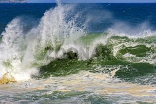 Stormy waves whit big waterspray