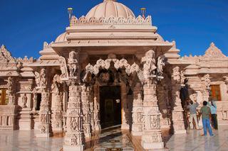 Katraj, Pune, Maharshtra, India, February 2017, Visitors at BAPS Swaminarayan mandir