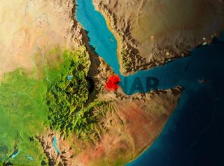 Orbit view of Djibouti