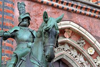 Herold am Rathaus in Bremen, Reiterfigur