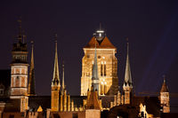 Gothic Architecture of St Mary Basilica in Gdansk