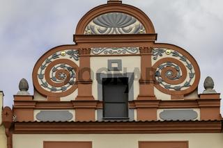 Giebel in Horšovský Týn (deutsch Bischofteinitz) Tschechien