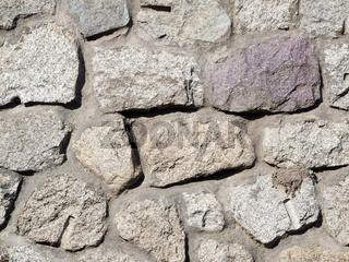 Feldsteinwand