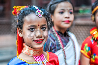 Girl in Kathmandu in Nepal