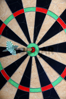 Straight To The Target Arrow On Darts Board