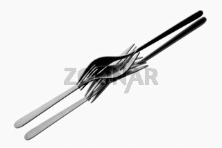 Tangled up forks