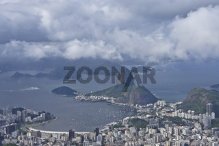 Rio de Janeiro, Brazil, City view from Corcovado hill