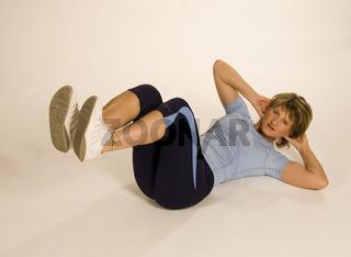 Frau beim Sport, Gymnastik, Fitness, Woman, gymnastic, work out