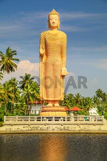 Tsunami Memorial, Buddha statue in Peraliya, Sri Lanka